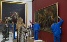 Retour de <i>La Chasse aux lions</i>, d'Eugène Delacroix