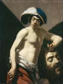 """Image de """"David tenant la tête de Goliath""""©Musée des Beaux-Arts-mairie de Bordeaux. Cliché L. Gauthier"""