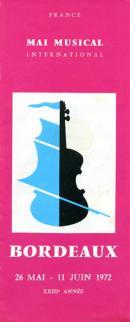 Couverture du programme du XXIIIe Mai Musical, 1972
