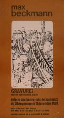 Affiche de l'exposition Max Beckmann, présentée à la Galerie des Beaux-Arts de Bordeaux, 1978