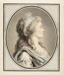 Achat de la ville – Jean-François Janinet, d'après Jacques-Antoine-Marie Lemoine – Portrait de Madame Saint-Huberti de l'Académie Royale de Musique