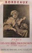 Affiche de l'exposition Paris et les ateliers provinciaux au XVIIIe siècle, 1958