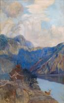 Albert Besnard, <i>Chasseur dans un paysage lacustre</i> © Musée des Beaux- Arts