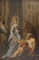 Une reine faisant l'aumône. Jean-Faur Courrège.© Musée des Beaux-Arts-mairie de Bordeaux. Cliché F.Deval