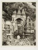Image : Philippe Mohlitz, Paysage bordelais. 1980. Burin sur Chine appliqué. Dépôt collection Robert Coustet, 2005