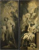 """Image de """"Jérémie voit une branche d'amandier fleurie et Les lèvres d'Isaïe purifiées par le feu""""© Musée des Beaux-Arts-mairie de Bordeaux. Cliché L. Gauthier"""