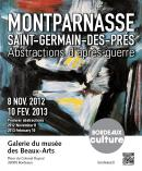 """Affiche de l'exposition """"Montparnasse St-Germain-des-Près © Musée des Beaux-Arts-mairie de Bordeaux. Cliché F.Deval"""