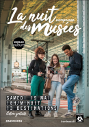 Affiche de la Nuit des musées 2018 de la ville de Bordeaux