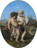 Jean-Léon GEROME, Bacchus et l'Amour ivres, 1850