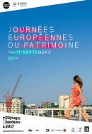 Affiche des Journées Européennes du Patrimoine à Bordeaux 2017