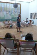 Sieste littéraire au musée des Beaux-Arts.